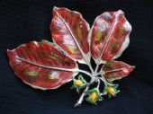 Vintage Exquisite Brooch - 1960's Copper Beech Brooch by Exquisite
